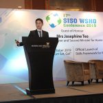 """TLM Co-founder, Mr James Chong, presented on the topic: \""""The Definitive Guide to Combating Workplace Stress & Burnout\"""" in SISO WSHO Conference 2019"""