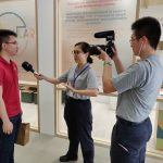 TLM Co-founder, Mr Yap Weiren, being interviewed during the Tzu Zhi Humanistic Youth Centre Opening Ceremony (2019)